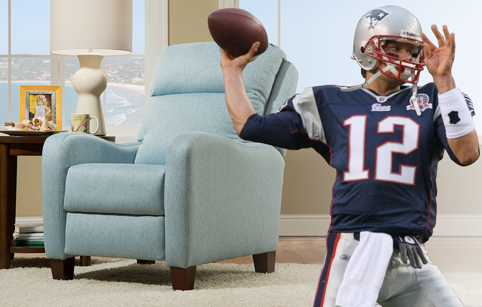 Tom Brady and Southern Motion's Prestige Accent Chair