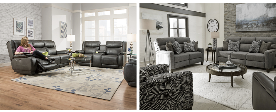 Velocity and Mt. Vernon sofas from Southern Motion