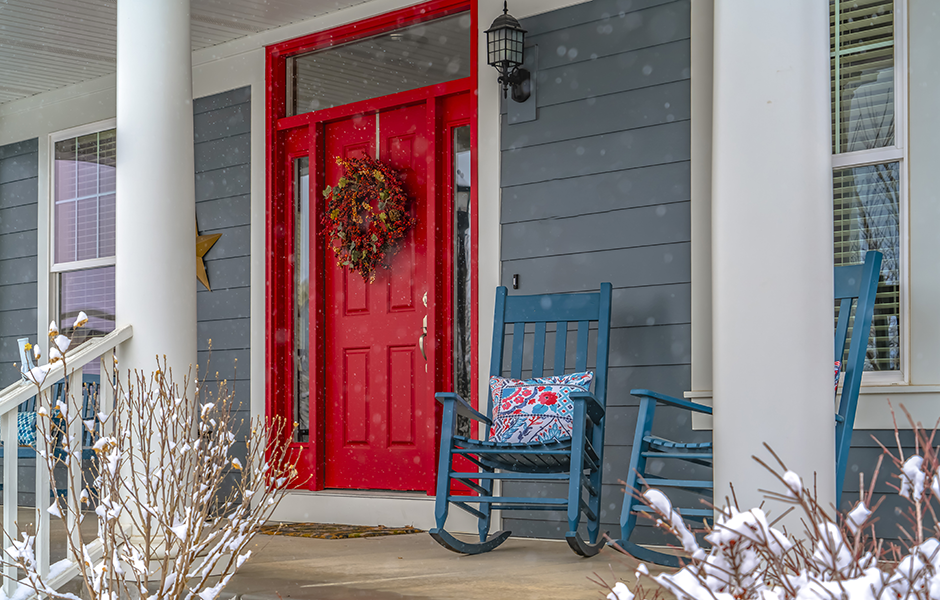 Holiday home with Feng Shui entryway
