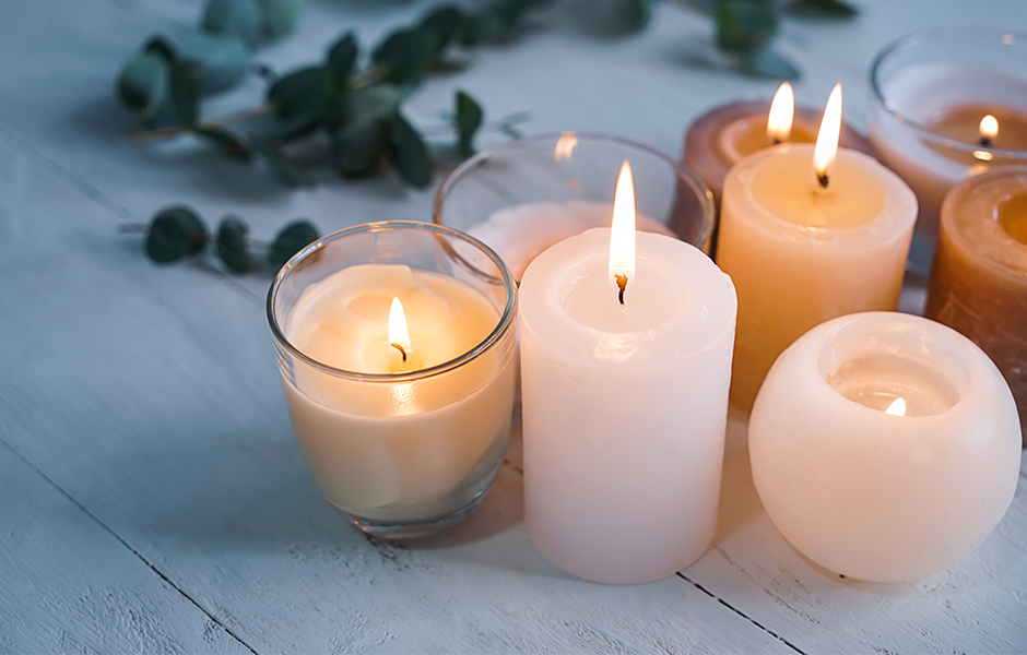 Candles as winter essentials for the home