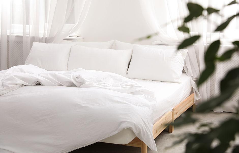 Clean, fresh bedroom