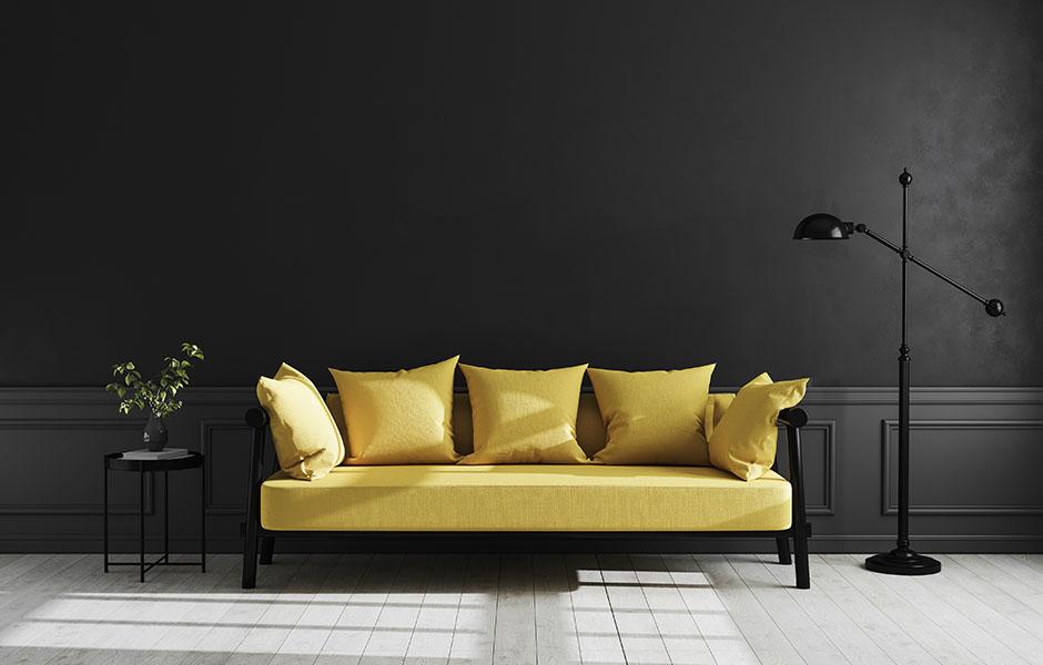 Modern living room in Pantone colors