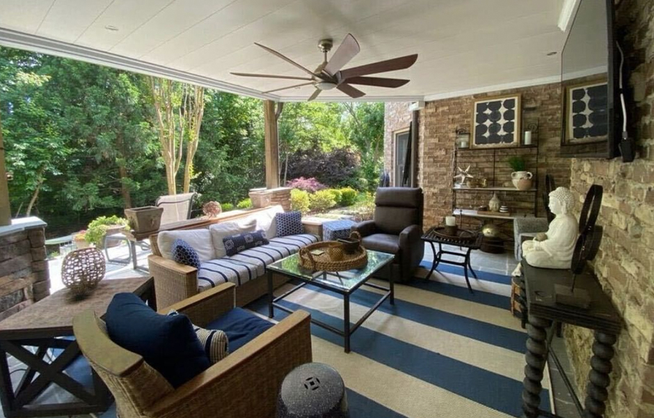 Southern Motion recliner in well covered patio